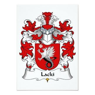 """Escudo de la familia de Lacki Invitación 5"""" X 7"""""""