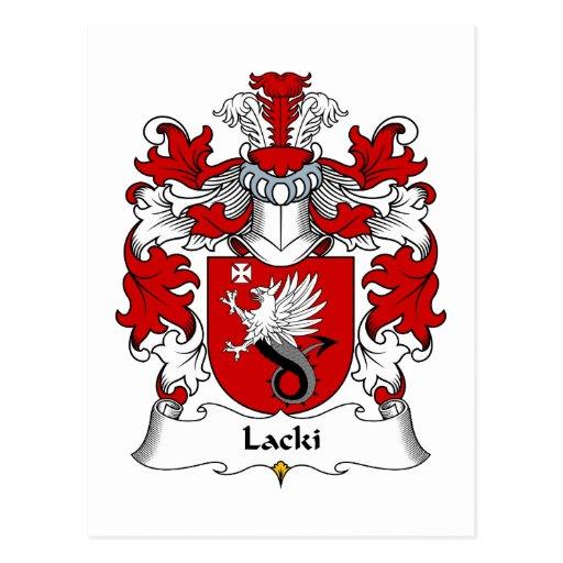 Escudo de la familia de Lacki Tarjeta Postal