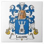 Escudo de la familia de Lacoste Azulejos Cerámicos