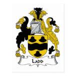 Escudo de la familia de Ladd Tarjeta Postal