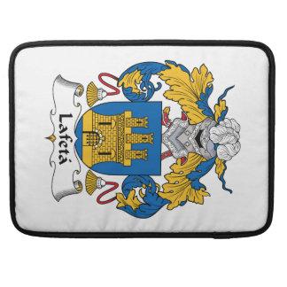 Escudo de la familia de Lafeta Funda Para Macbooks