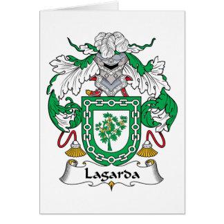 Escudo de la familia de Lagarda Tarjeta De Felicitación