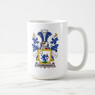 Escudo de la familia de Lagercrantz Taza Básica Blanca