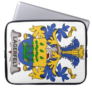 Escudo de la familia de Lagerfelt Fundas Computadoras