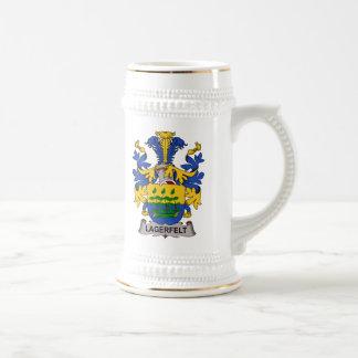 Escudo de la familia de Lagerfelt Jarra De Cerveza