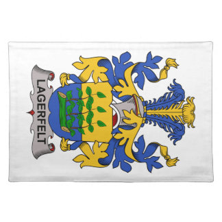 Escudo de la familia de Lagerfelt Manteles Individuales