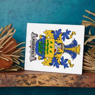 Escudo de la familia de Lagerfelt Placa De Madera