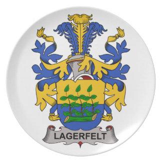 Escudo de la familia de Lagerfelt Plato