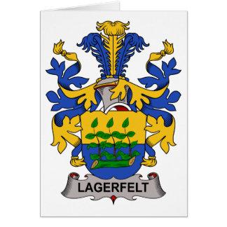 Escudo de la familia de Lagerfelt Felicitación