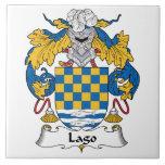Escudo de la familia de Lago Azulejos Ceramicos