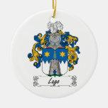 Escudo de la familia de Lago Ornamento Para Arbol De Navidad