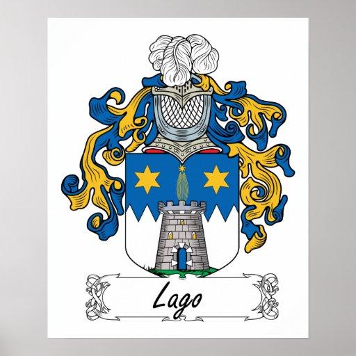 Escudo de la familia de Lago Impresiones