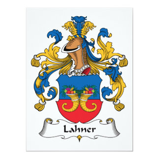 Escudo de la familia de Lahner Invitación 16,5 X 22,2 Cm
