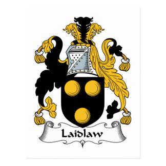 Escudo de la familia de Laidlaw Tarjeta Postal