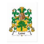 Escudo de la familia de Laine Tarjeta Postal