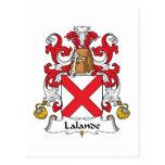 Escudo de la familia de Lalande Postales