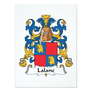 Escudo de la familia de Lalane Invitación 16,5 X 22,2 Cm