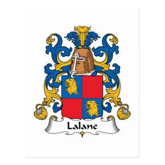 Escudo de la familia de Lalane Postal