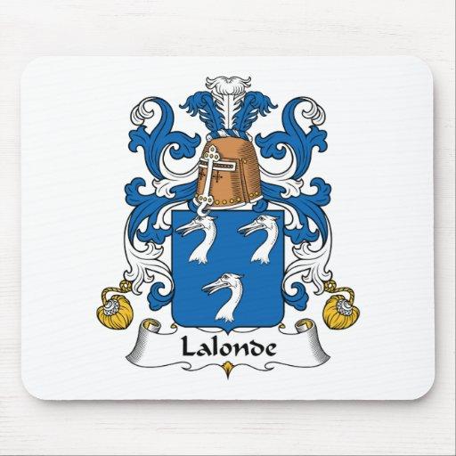 Escudo de la familia de Lalonde Mouse Pad