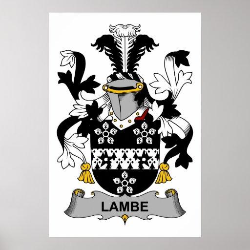 Escudo de la familia de Lambe Poster