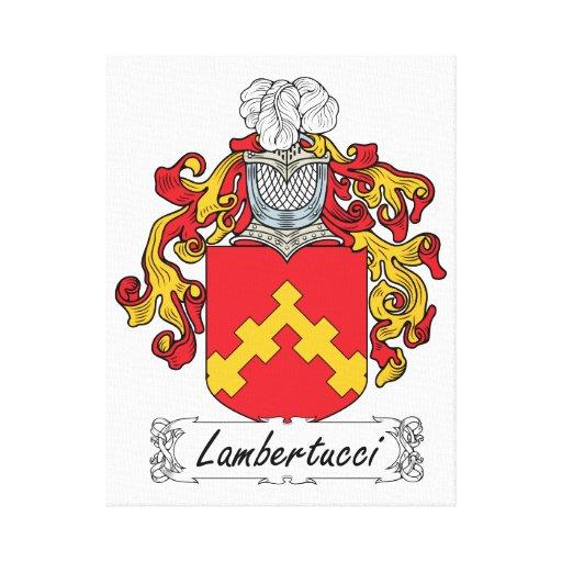 Escudo de la familia de Lambertucci Impresiones En Lona Estiradas