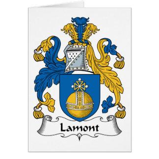Escudo de la familia de Lamont Tarjeta De Felicitación