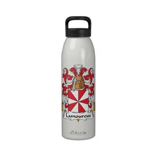 Escudo de la familia de Lamoureux Botella De Agua