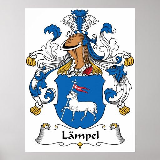 Escudo de la familia de Lampel Poster