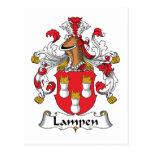 Escudo de la familia de Lampen Postal
