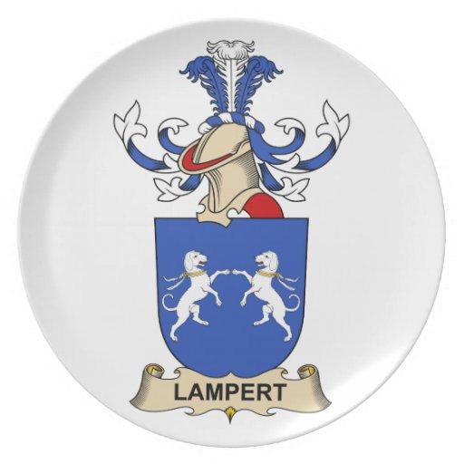 Escudo de la familia de Lampert Plato De Cena