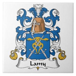 Escudo de la familia de Lamy Azulejo Cuadrado Grande