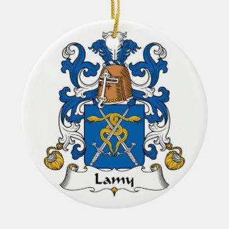 Escudo de la familia de Lamy Adorno Redondo De Cerámica