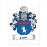Escudo de la familia de Lanci Postal