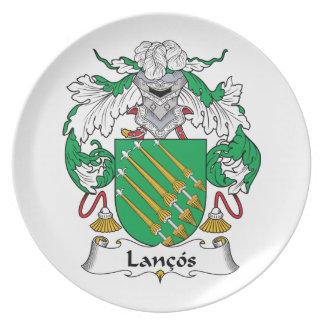 Escudo de la familia de Lancos Plato De Cena