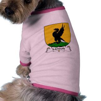 Escudo de la familia de Landolt Ropa Para Mascota