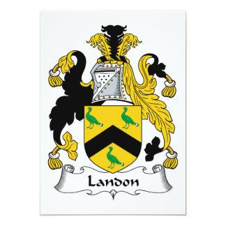 Escudo de la familia de Landon Invitación 12,7 X 17,8 Cm