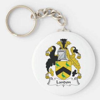 Escudo de la familia de Landon Llavero Redondo Tipo Pin