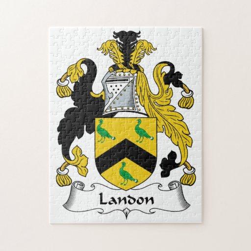 Escudo de la familia de Landon Puzzles Con Fotos