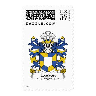Escudo de la familia de Landon Sellos Postales
