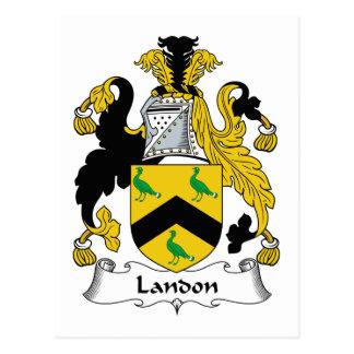 Escudo de la familia de Landon Tarjetas Postales