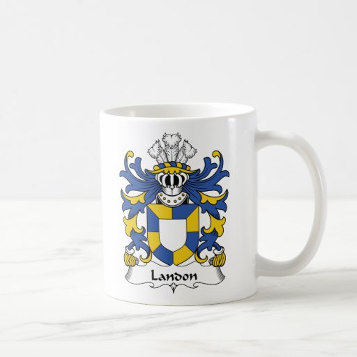 Escudo de la familia de Landon Tazas De Café