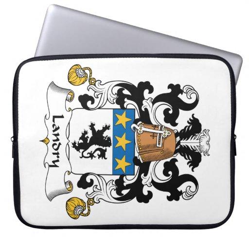 Escudo de la familia de Landry Funda Portátil