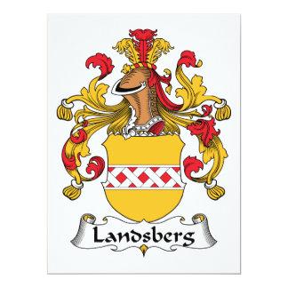 Escudo de la familia de Landsberg Invitación 16,5 X 22,2 Cm
