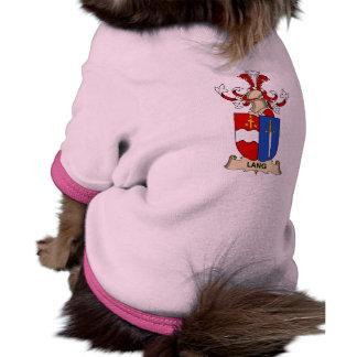 Escudo de la familia de Lang Camisetas Mascota
