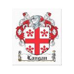 Escudo de la familia de Langan Impresión En Lona Estirada