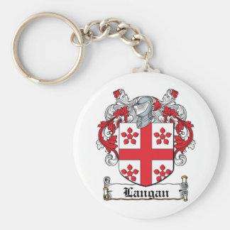 Escudo de la familia de Langan Llavero Redondo Tipo Pin