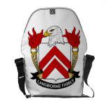 Escudo de la familia de Langborne Bolsas De Mensajería