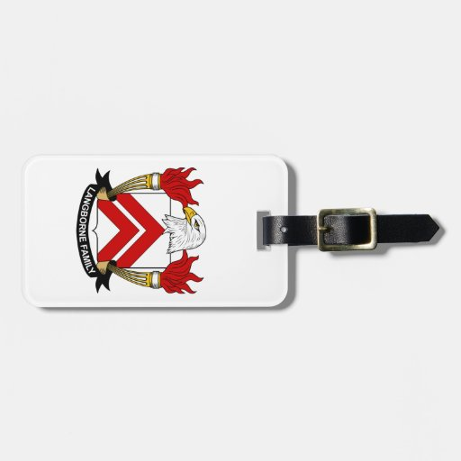 Escudo de la familia de Langborne Etiqueta De Equipaje