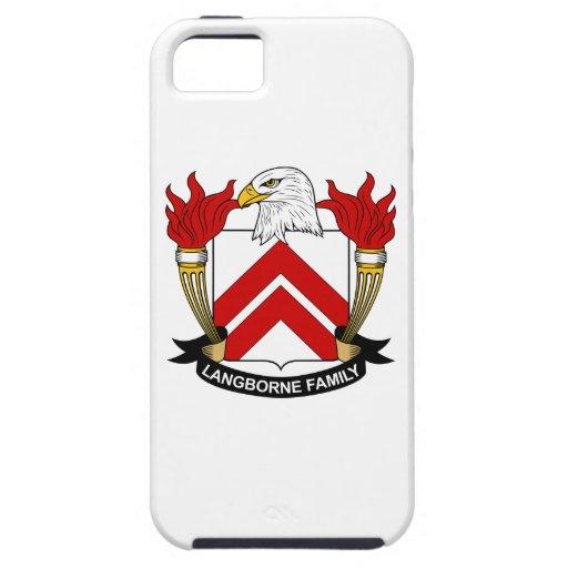 Escudo de la familia de Langborne iPhone 5 Case-Mate Fundas