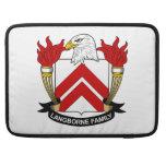 Escudo de la familia de Langborne Funda Para Macbook Pro